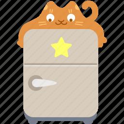 cat, favorite, food, fridge, guardar, hug, save, star icon