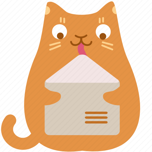 cat, contact, email, lick, mail, message, send icon
