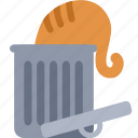 bin, cat, delete, garbage, recycle, remove, trash icon