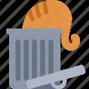 bin, cat, delete, garbage, recycle, remove, trash