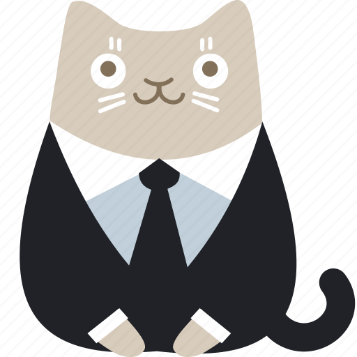 business, cat, client, customer, formal, official, suit icon