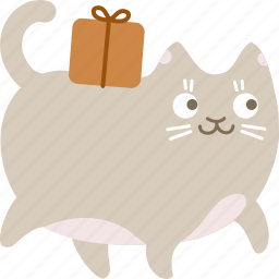cat, delivery, package, shipping icon