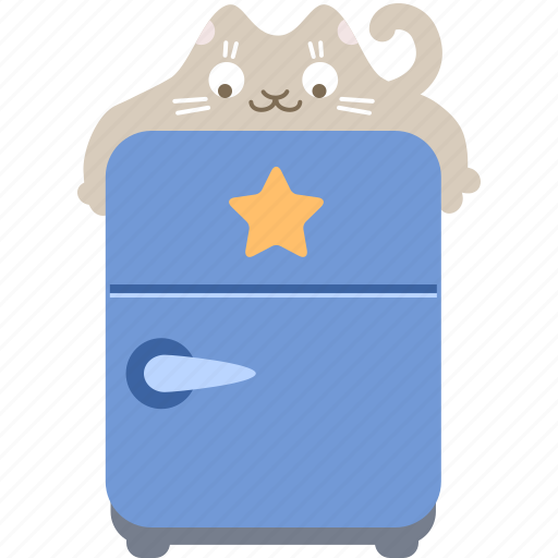 bookmark, cat, favorite, food, fridge, hug icon