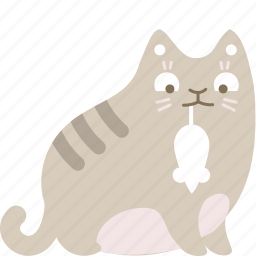cat, feline, food, mouse, trophy icon