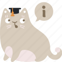 about, cat, help, info, information, support icon