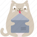 cat, email, envelope, letter, mail, message, post icon