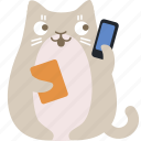 cat, contact, help, phone, support icon
