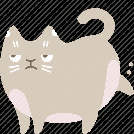 cat, clean, garbage, poop icon