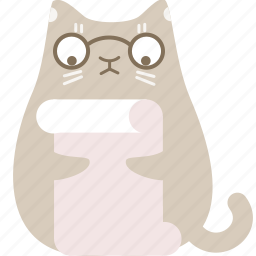 cat, clever, document, page, preview, read, review icon