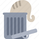 bin, cat, garbage, recycle, trash icon