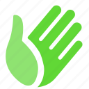 category, hand, life, nature, support icon