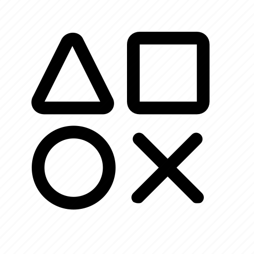 cross, design, development, round, shape, square, triangle icon