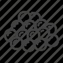 caviar, eggs, fish, red icon