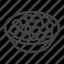 caviar, eggs, fish, plate, red icon