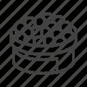 caviar, eggs, fish, red, roe, tobiko icon