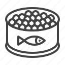 canned, caviar, eggs, fish, red, salmon icon