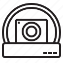 camera, dome, standard, surveillance icon