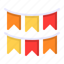 bunting, celebration, decoration, flag, party