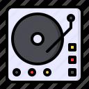 celebration, dj, music, party, turntable, vinyl icon