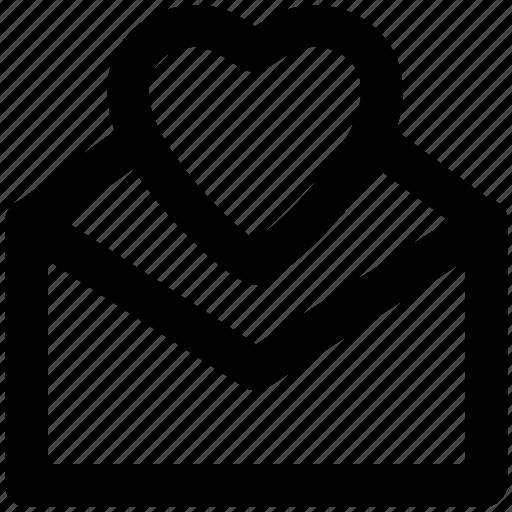 envelope, heart, letter, love letter, valentine greeting icon