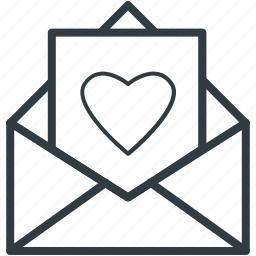 letter, love greeting, love letter, valentine card, valentine greeting icon
