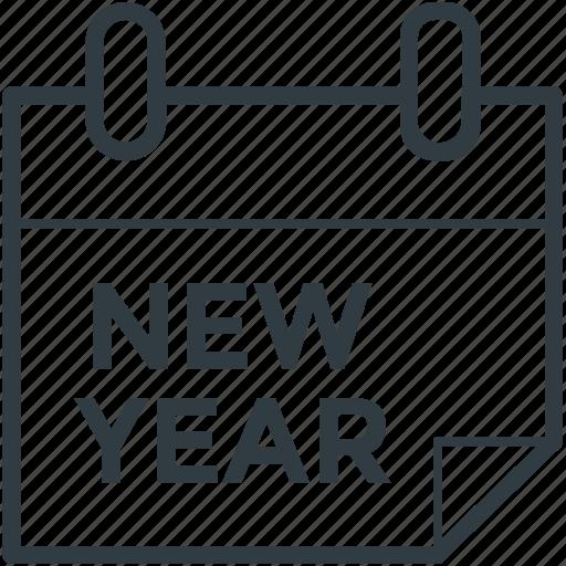 calendar, new year calendar, wall calendar, yearbook icon