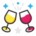 cheers, drinks, glass, party icon