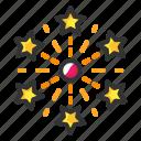 fireworks, fireworkscrackers icon