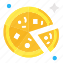 food, party, pizza icon