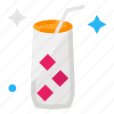 cheers, glass, juice, party icon