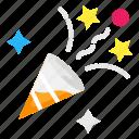celebration, confetti, decoration icon