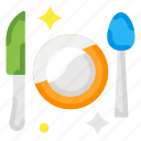 cutlery, meal, plate icon