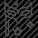 celebration, eye mask icon