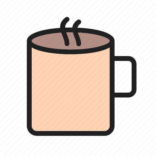 cafeteria, coffee, cup, dessert, drink, hot, tasty icon