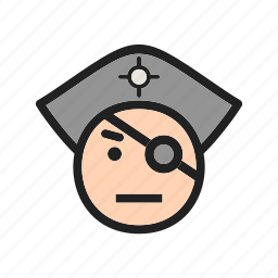 cartoon, character, eye, face, hat, pirate, pirates icon