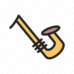 entertainment, instrument, jazz, music, musical, saxophone icon