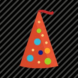 birthday, cap, color, decoration, fun, hat, party icon