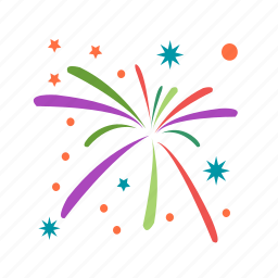 birthday, celebration, event, festival, fireworks, fun, party icon