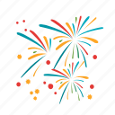 anniversary, celebration, colorful, firework, fireworks, new, party icon
