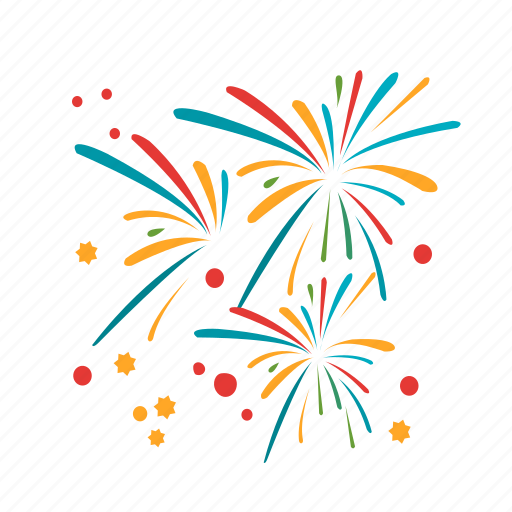 Anniversary, celebration, colorful, firework, fireworks ...Fireworks Icon