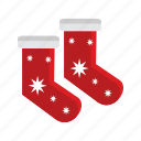 christmas, red, santa, sock, stocking, xmas icon