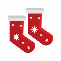 christmas, red, santa, sock, stocking, xmas icon