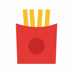food, french, fried, fries, potatoes, seafood, snack icon