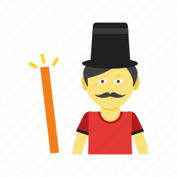 hand, hat, magic, magician, man, show, trick icon