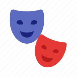 celebration, decoration, festival, masks, party, two icon