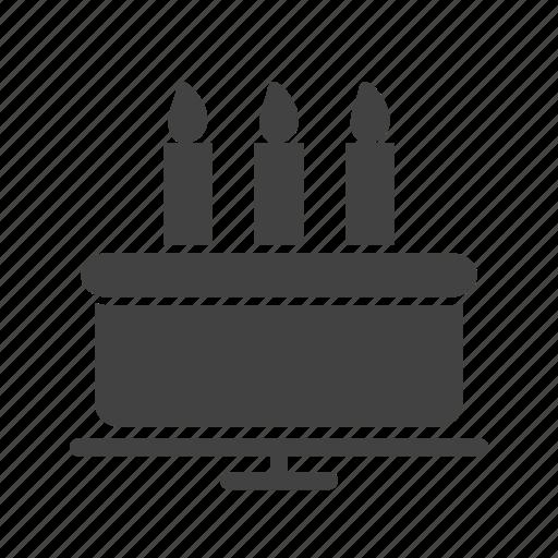 birthday, cake, celebration, dessert, food, party, sweet icon