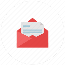 document, email, envelope, letter, mail, message, open, post, send icon