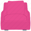 armchair, couch, lounge chair, padded chair, sofa icon