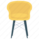 captain chair, couch, director chair, padded seat, sofa icon