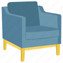 sofa, rest chair, couch, easy chair, armchair icon
